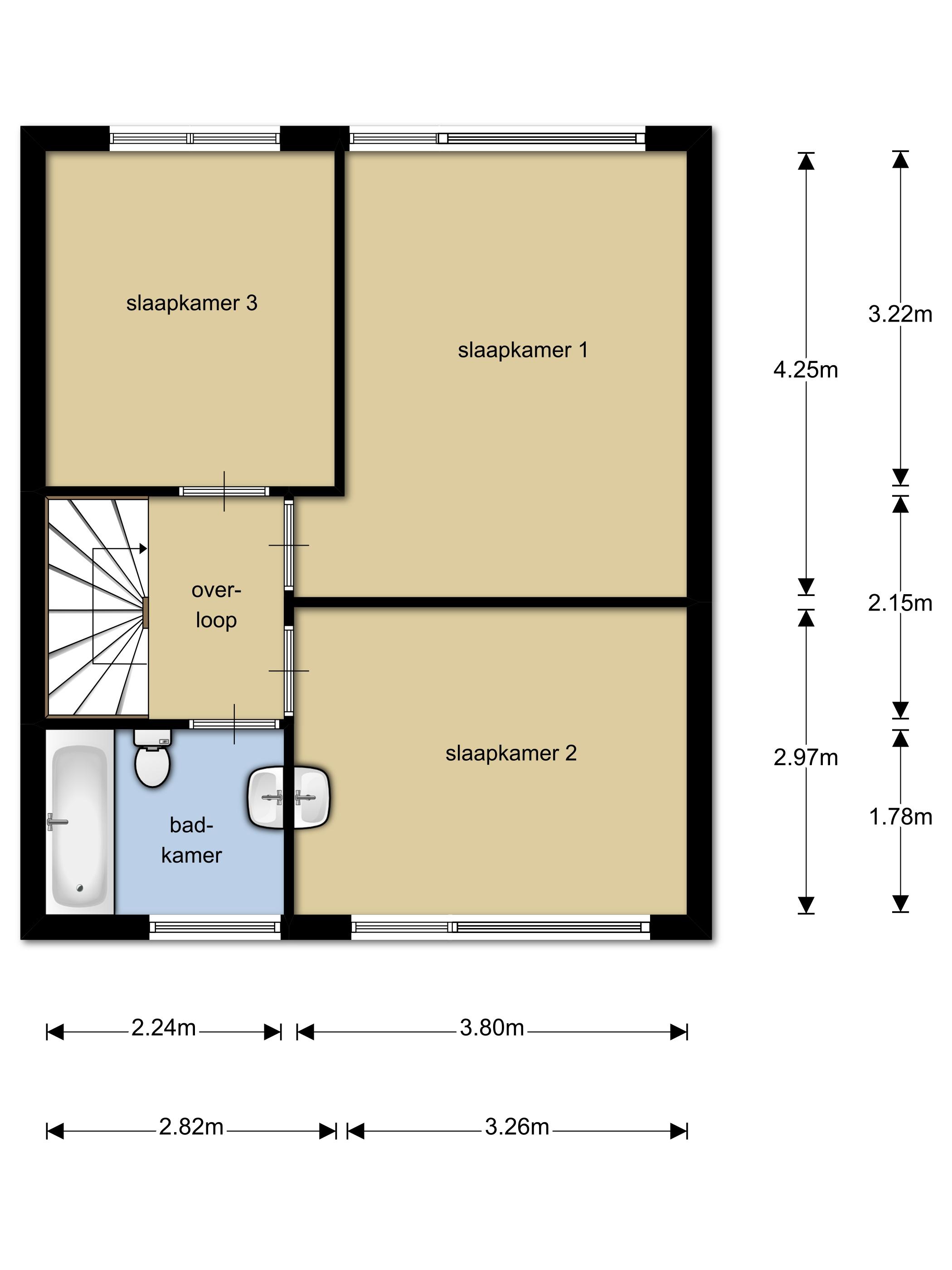 Plattegrond Keuken Horeca : Bagijnhof 10 – 4524ep, Sluis – 210.000,- K.K.